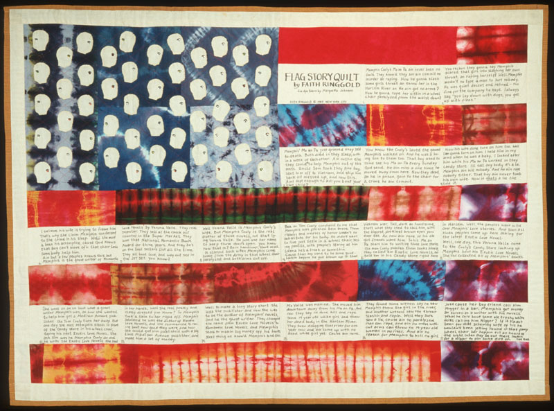 Flag Story Quilt by Faith Ringgold