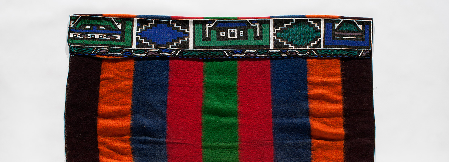 wearing blanket by Ndebele peoples