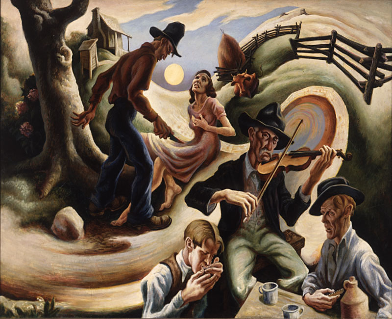 Detail: Ballad of the Jealous Lover of Lone Green Vallery by Thomas Hart Benton