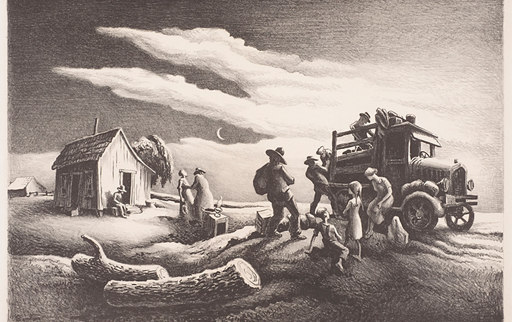 Detail: Departure of the Joads by Thomas Hart Benton