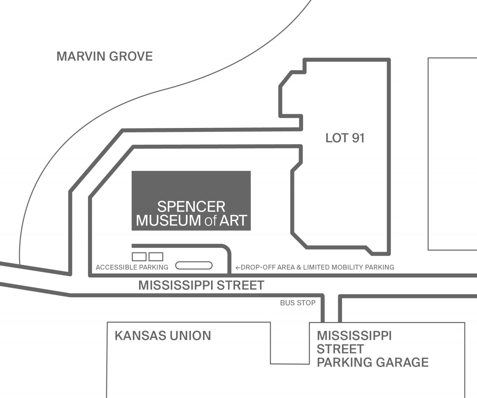 Spencer Visiting and Parking Map