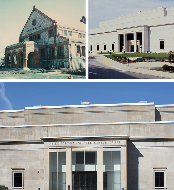 Images of the Spencer Museum of Art over time