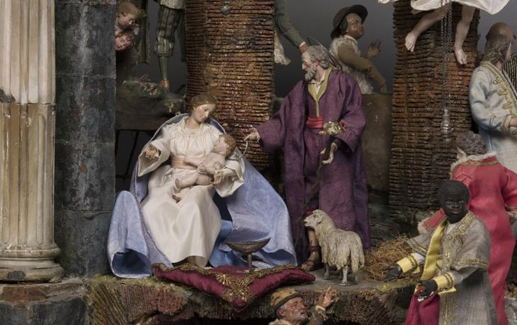 <a href='http://collection.spencerart.ku.edu/eMuseumPlus?service=ExternalInterface&module=collection&objectId=7614&viewType=detailView' target='_blank'><i>Presepio Nativity Scene</i> Italy</a>