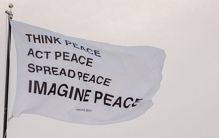 flag, Imagine Peace by Yoko Ono