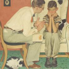 <a href='http://collection.spencerart.ku.edu/eMuseumPlus?service=ExternalInterface&module=collection&objectId=9048&viewType=detailView' target='_blank'><i>Facts of Life</i> by Norman Rockwell</a>