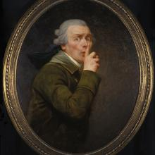"<a href=""https://spencerartapps.ku.edu/collection-search#/object/9141"" target=""_blank""><i>Le Discret</i> by Joseph Ducreux</a>"