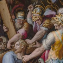 <a href='http://collection.spencerart.ku.edu/eMuseumPlus?service=ExternalInterface&module=collection&objectId=9267&viewType=detailView' target='_blank'>Detail of <i>Christ Carrying the Cross</i> by Giorgio Vasari</a>