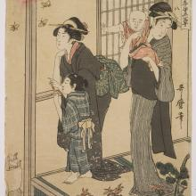 <a href='http://collection.spencerart.ku.edu/eMuseumPlus?service=ExternalInterface&module=collection&objectId=10778&viewType=detailView' target='_blank'><i>Two Women and Their Children</i> by Kitagawa Utamaro</a>