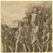 <a href='http://collection.spencerart.ku.edu/eMuseumPlus?service=ExternalInterface&module=collection&objectId=10819&viewType=detailView' target='_blank'><i>The Triumph of Caesar: Soldiers Carrying Trophies</i> by Andrea Mantegna</a>