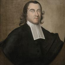 "<a href=""https://spencerartapps.ku.edu/collection-search#/object/11223"" target=""_blank""><i>Portrait of the Rev. Ellis Gray</i> by Joseph Badger</a>"