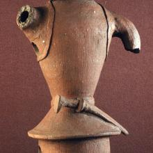 <a href='http://collection.spencerart.ku.edu/eMuseumPlus?service=ExternalInterface&module=collection&objectId=12673&viewType=detailView' target='_blank'><i>Warrior Haniwa</i> by Japan</a>
