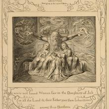 <a href='http://collection.spencerart.ku.edu/eMuseumPlus?service=ExternalInterface&module=collection&objectId=16949&viewType=detailView' target='_blank'><i>Job and His Daughters</i> by William Blake</a>