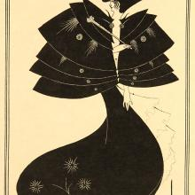 <a href='http://collection.spencerart.ku.edu/eMuseumPlus?service=ExternalInterface&module=collection&objectId=24140&viewType=detailView' target='_blank'><i>The Black Cape</i> by Aubrey Vincent Beardsley</a>