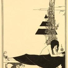 <a href='http://collection.spencerart.ku.edu/eMuseumPlus?service=ExternalInterface&module=collection&objectId=24141&viewType=detailView' target='_blank'><i>A Platonic Lament</i> by Aubrey Vincent Beardsley</a>