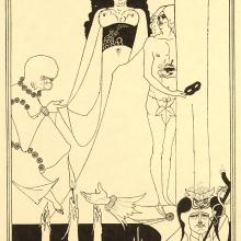 <a href='http://collection.spencerart.ku.edu/eMuseumPlus?service=ExternalInterface&module=collection&objectId=24143&viewType=detailView' target='_blank'><i>Enter Herodius</i> by Aubrey Vincent Beardsley</a>