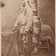 <a href='http://collection.spencerart.ku.edu/eMuseumPlus?service=ExternalInterface&module=collection&objectId=32582&viewType=detailView' target='_blank'><i>portrait of Louie, Sitting Bull's son</i> by David Francis Barry</a>