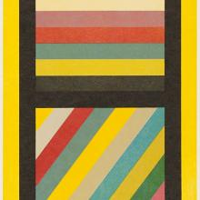 <a href='http://collection.spencerart.ku.edu/eMuseumPlus?service=ExternalInterface&module=collection&objectId=42870&viewType=detailView' target='_blank'><i>Bands of Color in Four Directions (Vertical)</i> by Sol LeWitt</a>