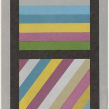 <a href='http://collection.spencerart.ku.edu/eMuseumPlus?service=ExternalInterface&module=collection&objectId=42872&viewType=detailView' target='_blank'><i>Bands of Color in Four Directions (Vertical)</i> by Sol LeWitt</a>