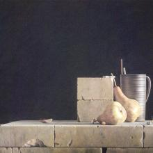 "<a href=""https://spencerartapps.ku.edu/collection-search#/object/28995"" target=""_blank""><i>Pears</i> by Daniel Massad</a>"