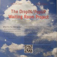 <a href='http://collection.spencerart.ku.edu/eMuseumPlus?service=ExternalInterface&module=exhibition&objectId=1145&viewType=detailView' target='_blank'>Installation view of <i>The Drop-In/Pop-Up Waiting Room Project</i></a>
