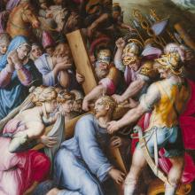 <a href='http://collection.spencerart.ku.edu/eMuseumPlus?service=ExternalInterface&module=collection&objectId=9267&viewType=detailView' target='_blank'><i>Christ Carrying the Cross</i> by Giorgio Vasari</a>