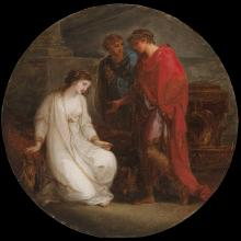 <a href='http://collection.spencerart.ku.edu/eMuseumPlus?service=ExternalInterface&module=collection&objectId=9769&viewType=detailView' target='_blank'><i>Cleopatra before Augustus</i> by Angelica Kauffmann</a>