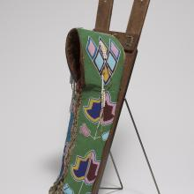 <a href='http://collection.spencerart.ku.edu/eMuseumPlus?service=ExternalInterface&module=collection&objectId=31438&viewType=detailView' target='_blank'><i>cradleboard</i> by Kiowa peoples</a>