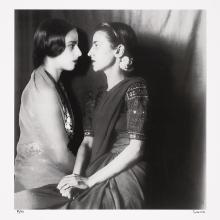 "<a href=""https://spencerartapps.ku.edu/collection-search#/object/44834"" target=""_blank""><i>Sisters Apart</i> by Vivan Sundaram</a>"