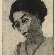 <a href='http://collection.spencerart.ku.edu/eMuseumPlus?service=ExternalInterface&module=collection&objectId=491&viewType=detailView' target='_blank'><i>Negro Girl</i> by Marguerite M. Nellis</a>