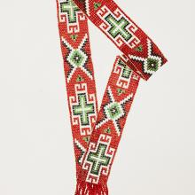 <a href='http://collection.spencerart.ku.edu/eMuseumPlus?service=ExternalInterface&module=collection&objectId=37957&viewType=detailView' target='_blank'><i>beaded hatband</i> Apache Apache or Diné (Navajo) peoples</a>