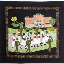 <a href='http://collection.spencerart.ku.edu/eMuseumPlus?service=ExternalInterface&module=collection&objectId=57321&viewType=detailView' target='_blank'><i>The Little Rock Nine</i> by Sandra Noble