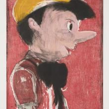 <a href='http://collection.spencerart.ku.edu/eMuseumPlus?service=ExternalInterface&module=collection&objectId=48934&viewType=detailView' target='_blank'><i>Pinocchio's Black Tie</i> by Jim Dine</a>