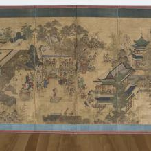 <a href='http://collection.spencerart.ku.edu/eMuseumPlus?service=ExternalInterface&module=collection&objectId=52061&viewType=detailView' target='_blank'><i>Guo Ziyi's Enjoyment-of-Life Banquet Screen</i>, early 1800s, Korea</a>
