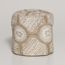 <a href='http://collection.spencerart.ku.edu/eMuseumPlus?service=ExternalInterface&module=collection&objectId=43853&viewType=detailView' target='_blank'>Hausa-Fulani peoples <i>embroidered hat</i>, 1980</a>