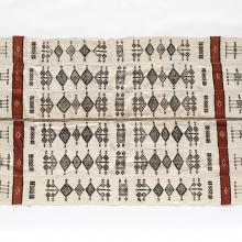 <a href='http://collection.spencerart.ku.edu/eMuseumPlus?service=ExternalInterface&module=collection&objectId=43865&viewType=detailView' target='_blank'><i>woolen textile</i>, from Mali, 1980</a>