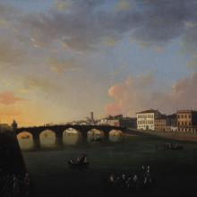 View of the Arno River in Florence, Thomas Patch