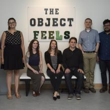 "Spencer Museum intern exhibition, ""The Object Feels""."