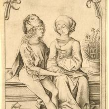 <a href='http://collection.spencerart.ku.edu/eMuseumPlus?service=ExternalInterface&module=collection&objectId=10829&viewType=detailView' target='_blank'><i>The Lovers</i> by Israhel van Meckenem the younger</a>