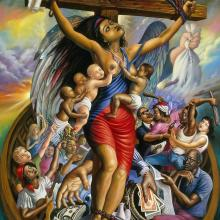 <i>Crucified Liberty</i> by Ulrick Jean-Pierre