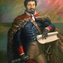 <i>Jean-Baptiste Point du Sable</i> by Ulrick Jean-Pierre