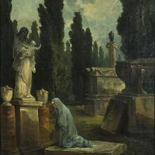 Jardin des Monuments (A Mother Weeping in a Cemetery), Hubert Robert