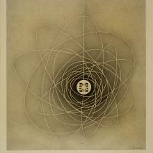 <a href='http://collection.spencerart.ku.edu/eMuseumPlus?service=ExternalInterface&module=collection&objectId=12274&viewType=detailView' target='_blank'><i>Cosmic Web</i> by Emil James Bisttram</a>