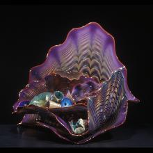 Violet Persian Set with Red Lip Wraps, Dale Chihuly