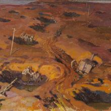 <a href='http://collection.spencerart.ku.edu/eMuseumPlus?service=ExternalInterface&module=collection&objectId=47257&viewType=detailView' target='_blank'><i>untitled (soldiers in bomb craters)</i> by André Edouard Devambez</a>