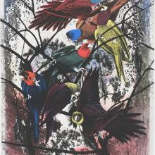 "<a href=""https://spencerartapps.ku.edu/collection-search#/object/55337"" target=""_blank""><i>Robins will wear their feathery fire</i> by Matthew Day Jackson</a>"